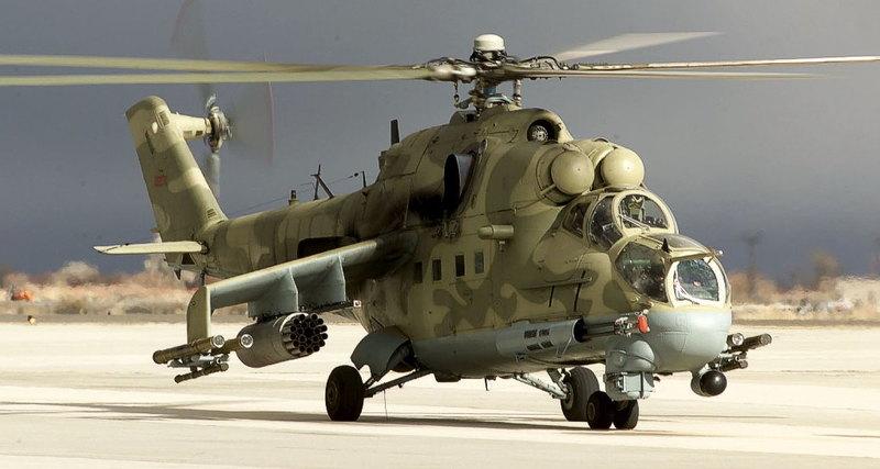 Модернизированный вертолёт Ми-24П-1М