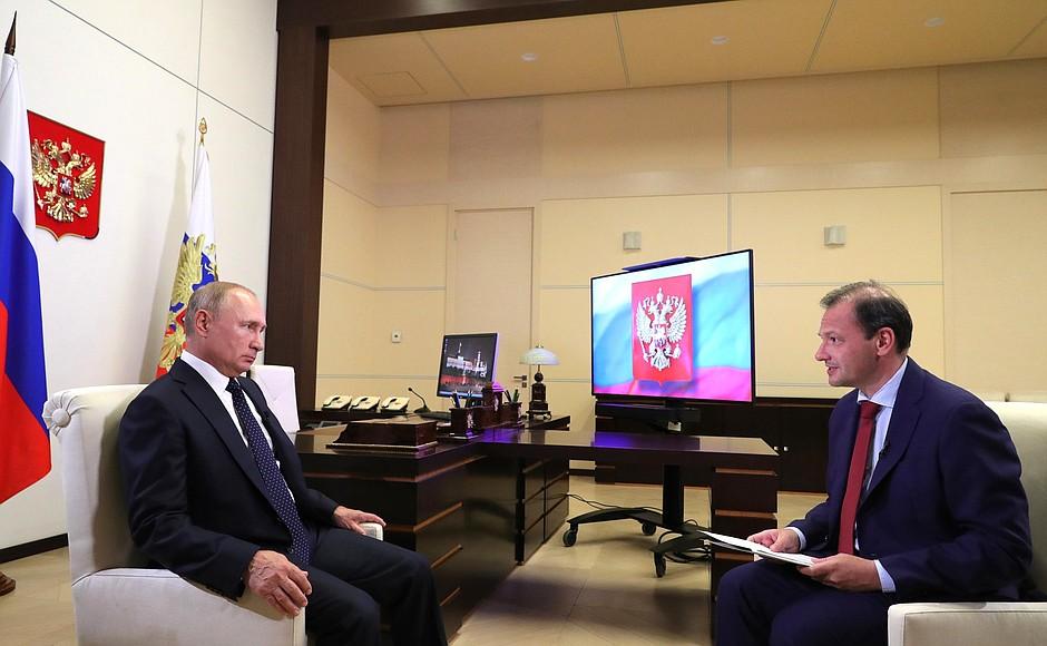 Владимир Путин ответил на вопросы журналиста ВГТРК, ведущего программы «Вести в субботу» Сергея Брилёва.