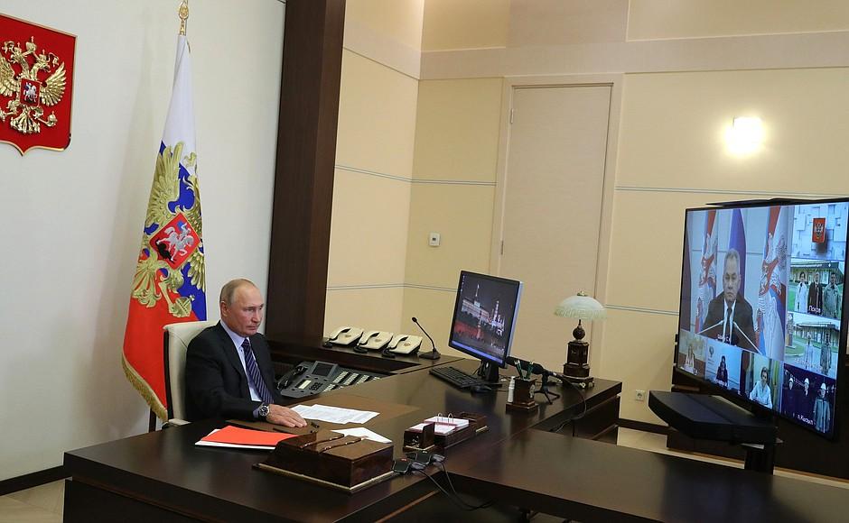 Открытие многофункциональных медицинских центров в Псковской области (в режиме видеоконференции).